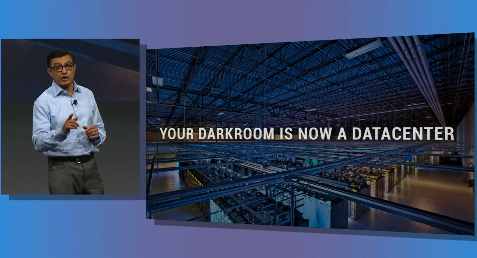 Google har massive mengder datakraft, og er kongene av søketeknologi. Dette skal de nå bruke for å gi deg bedre ferieminner.Foto: Google IO Webcast