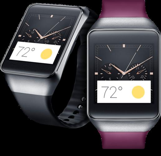 Samsung har også lansert en smartklokke basert på Googles operativsystem, men foreløpig har ikke Gear Live kommet til Norge.Foto: Samsung