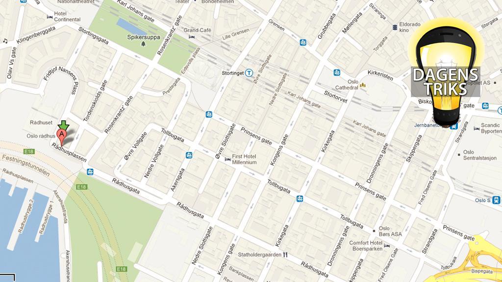 Bruk GPS-koordinater i Google Maps
