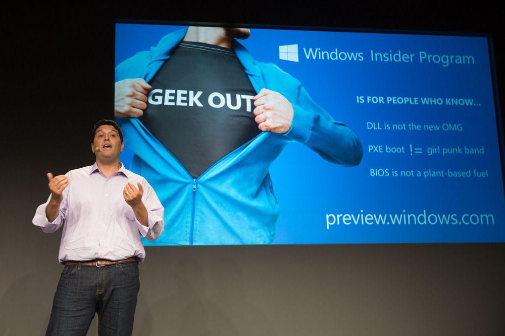 Microsoft skal bruke ett år på å sanke tilbakemeldinger og finpolere Windows 10, før den endelige lanseringen.Foto: Microsoft