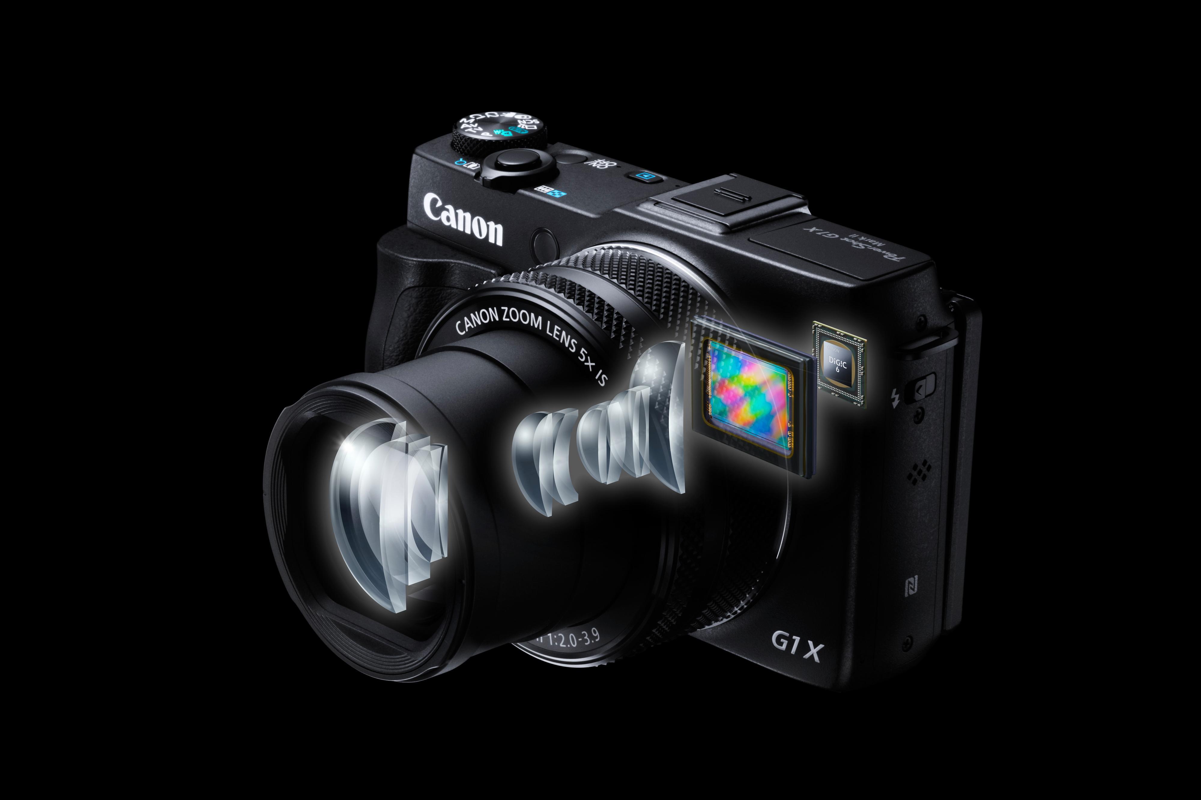 Dette er visstnok sånn G1 X Mark II er bygget opp.Foto: Canon