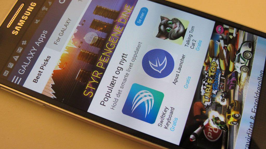 Du velger selv hvilke tilleggsapper du vil ha på Galaxy Alpha.Foto: Espen Irwing Swang, Tek.no