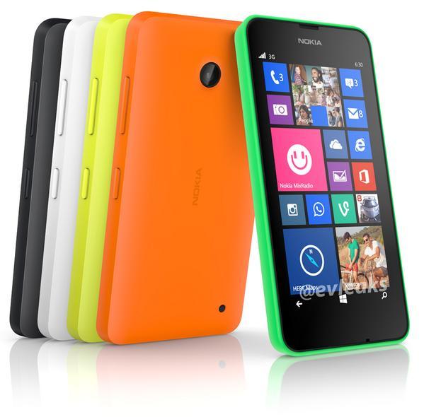 Dette skal ifølge @evleaks være et pressebilde av Nokia Lumia 630.Foto: @evleaks