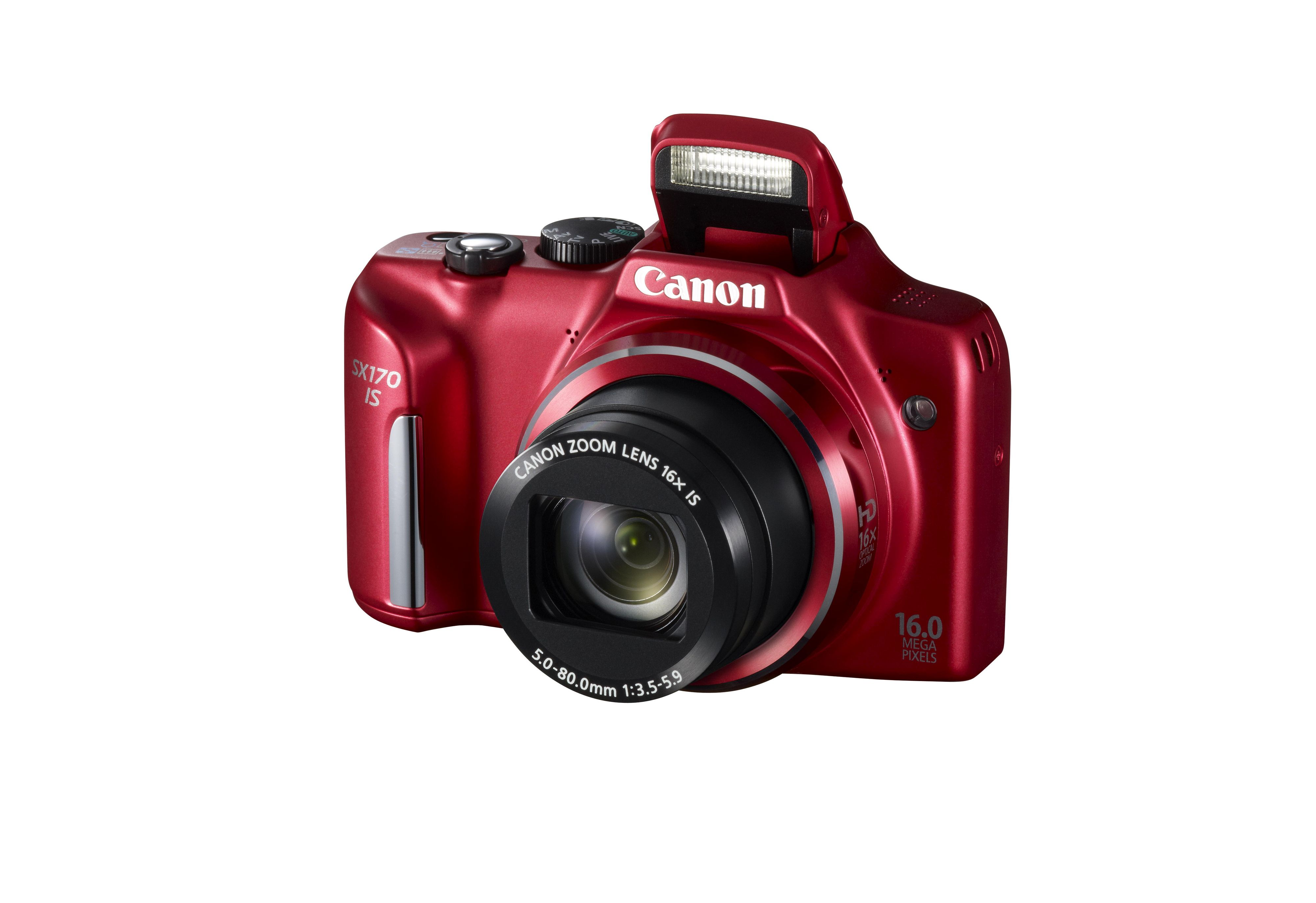 SX170 IS kommer også i rødt.Foto: Canon