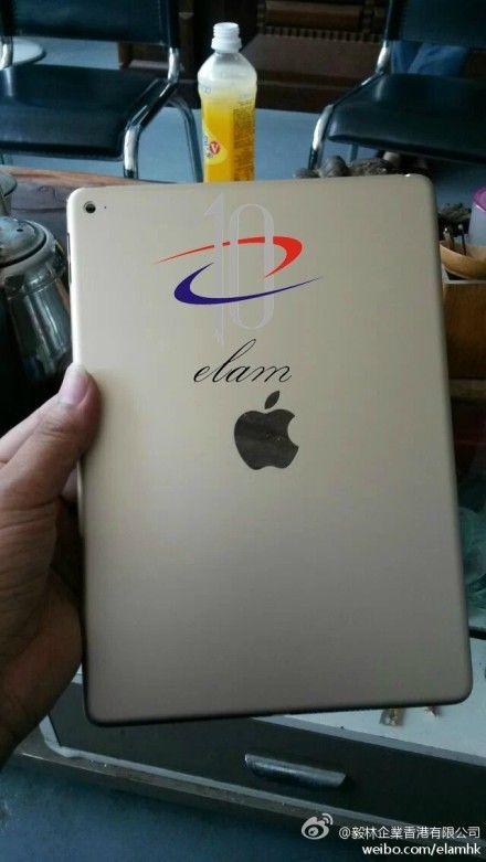 Baksiden av iPad Air 2.Foto: weibo.com