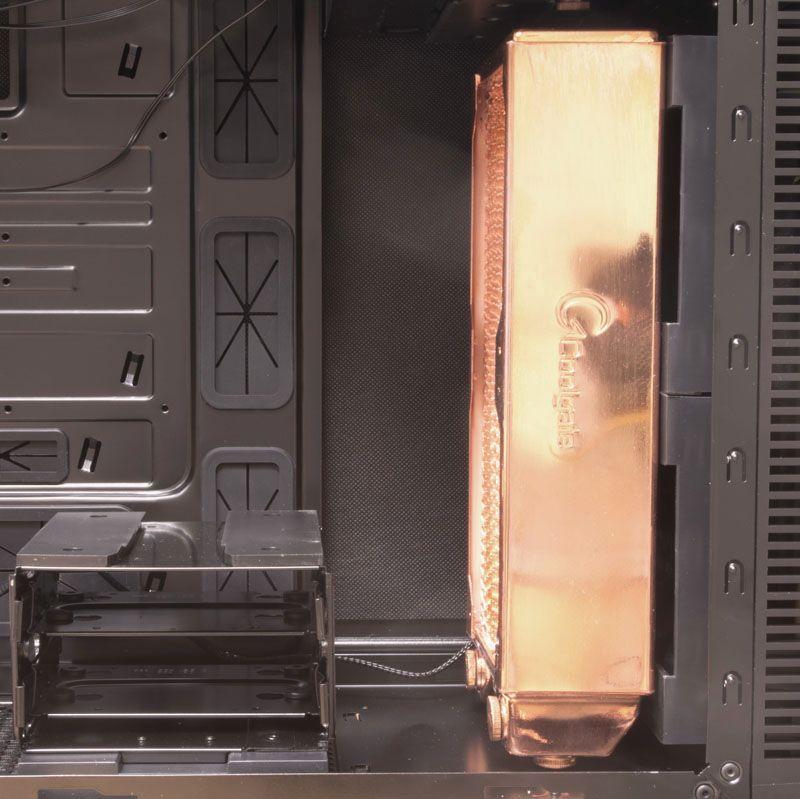 Alternativ radiator, 60 mm tykk i Nanoxia DS1.Foto: TechBay