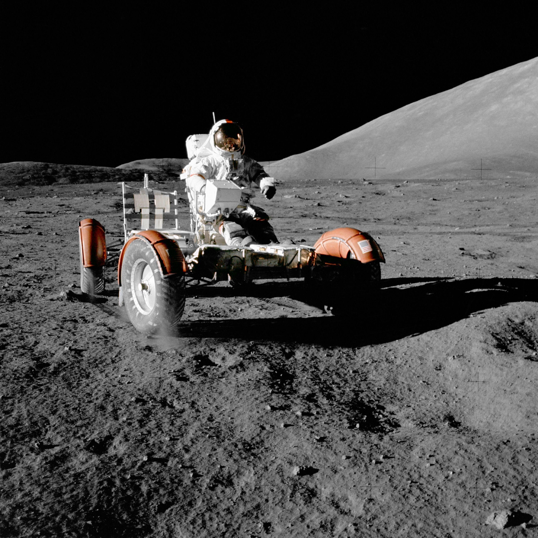 Den forrige roveren som kjørte rundt i samme område var litt større. Foto: NASA
