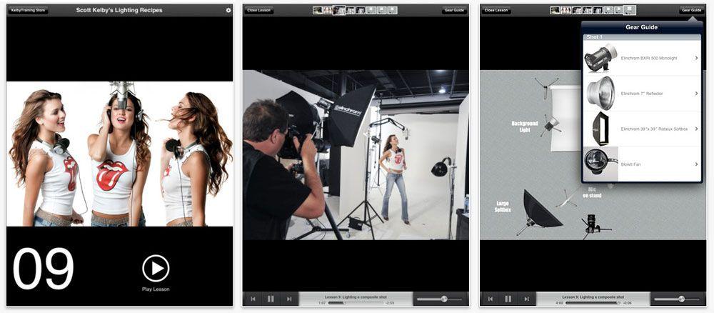 Studiobelysningen demonstreres gjennom videoer og diagrammer