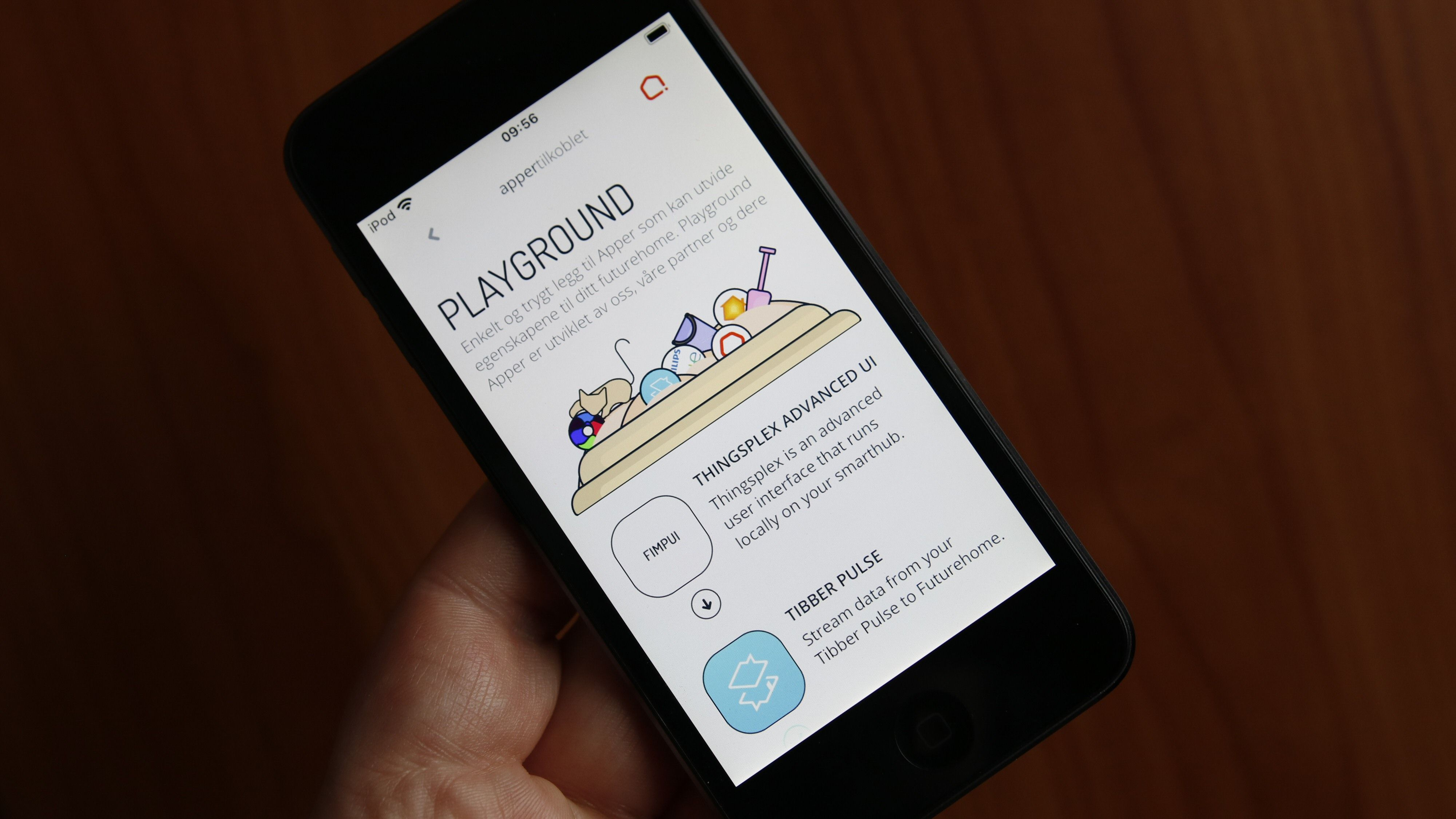 I appens «Playground» finner vi ekstra funksjonalitet.