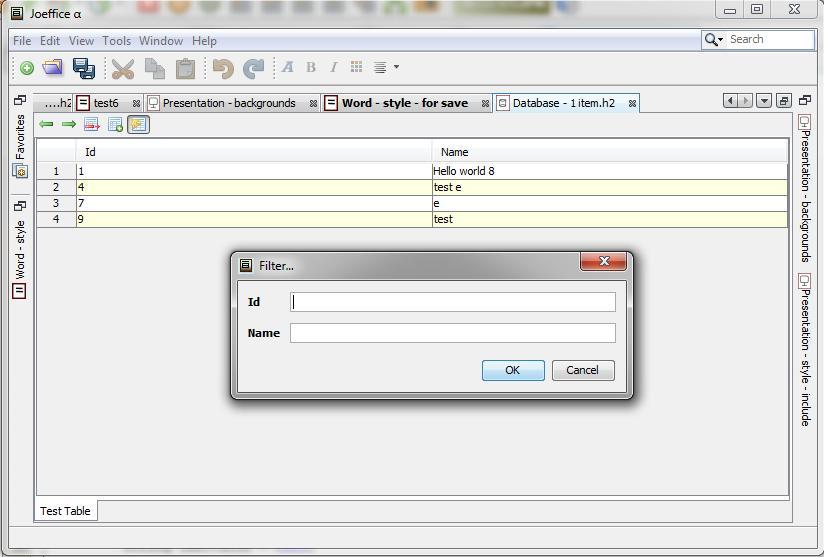 Databaseverktøyet.Foto: Joeffice