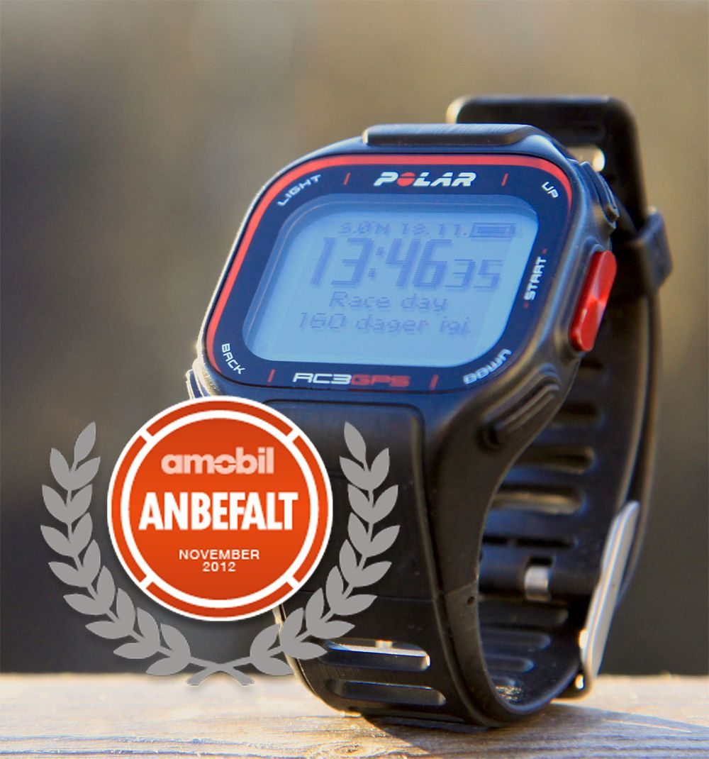 Polar RC3 GPS.Foto: Kurt Lekanger, Amobil.no