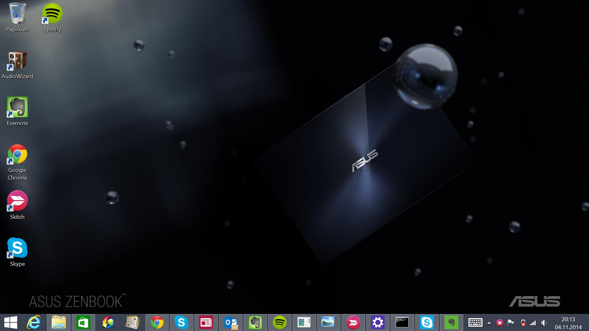 GAMMELT OG GODT: Det ser kanskje ikke like flott ut, men skrivebordet til Windows 8.1 er nok der jeg hører hjemme til Microsoft får Modern UI på stell.