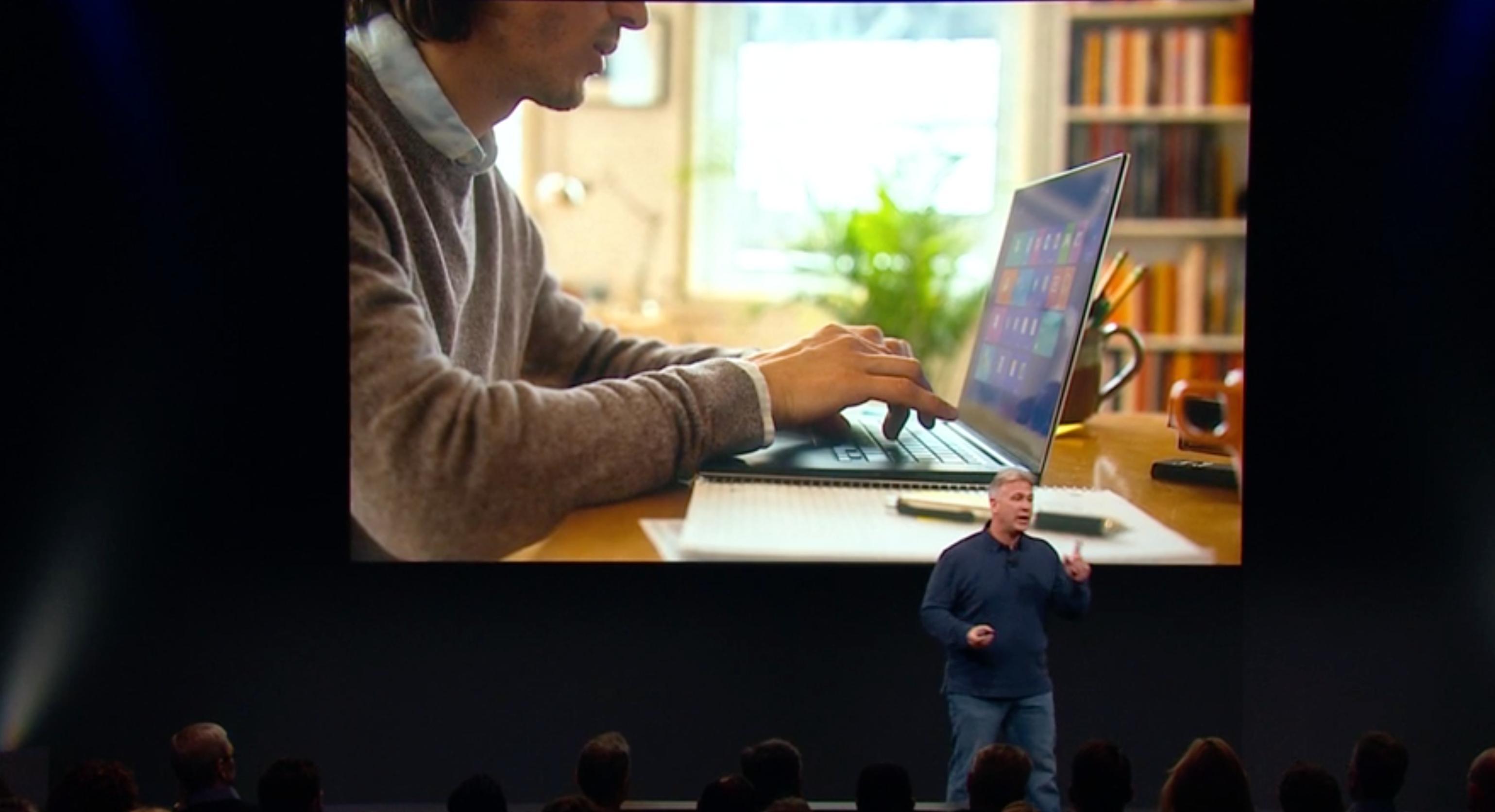 """""""Den nye iPad Proen passer for ... Windows-brukere!"""" ropes det fra scenen."""