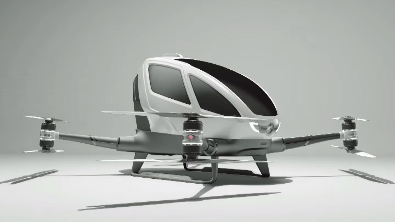 Denne gigantiske dronen kan du sitte i