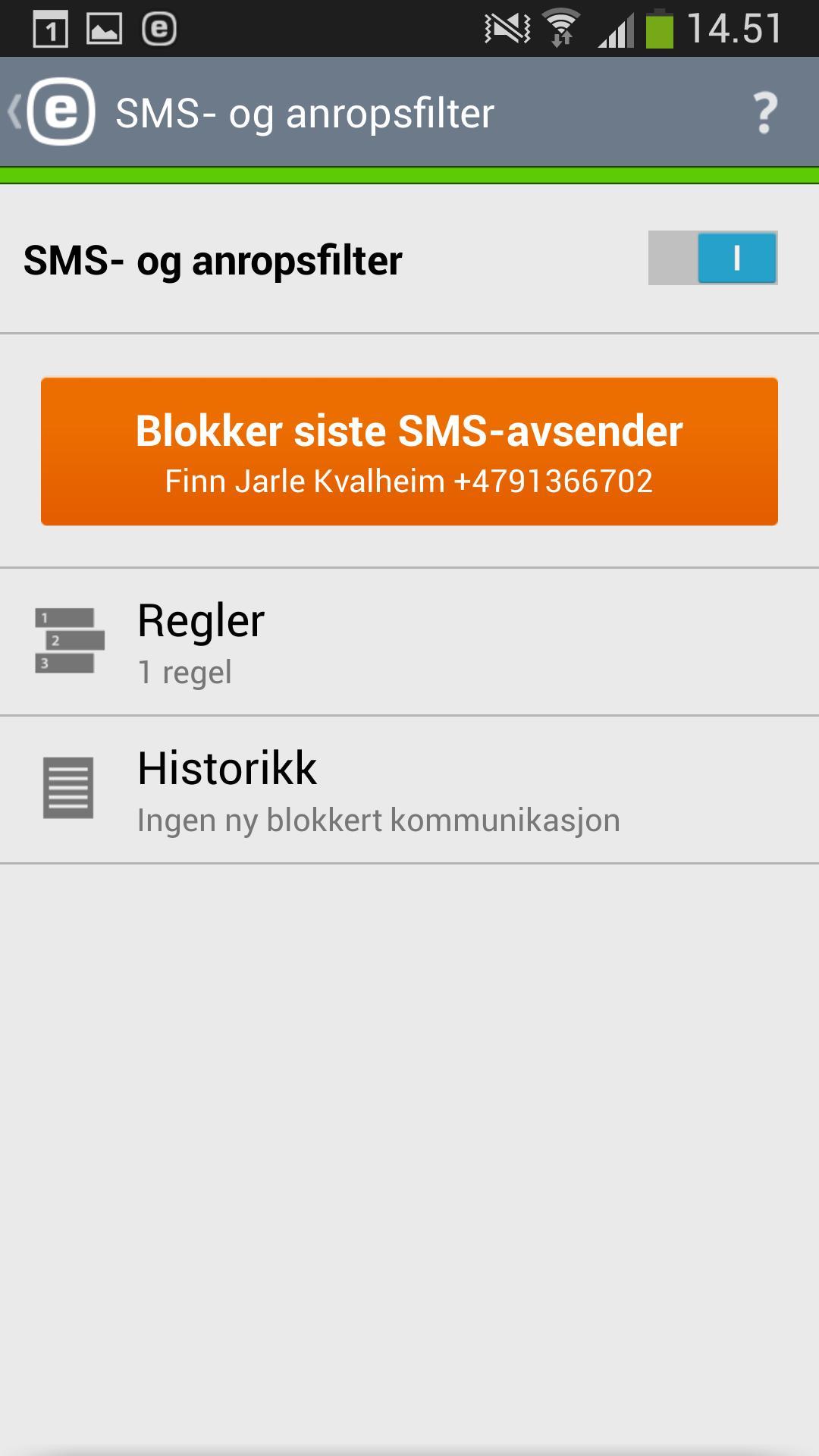 Her kan du blokkere anrop fra uønskede telefonnummere.
