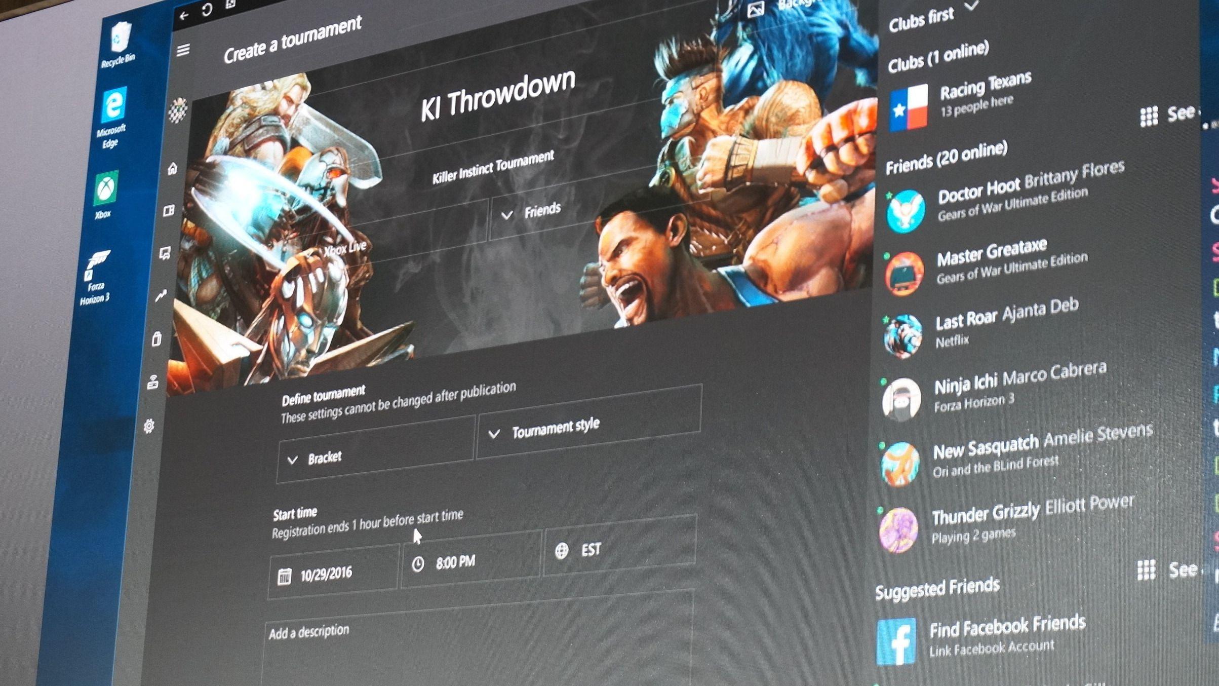 «Arena» i Xbox Live virker som en ganske kul tjeneste for å lage venneturneringer.