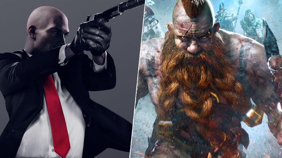 Hitman 2 og Warhammer: Chaosbane.