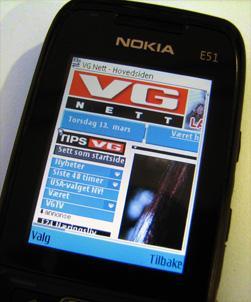 Å laste ned forsiden til VG krever krefter og strøm av mobilen din. (Foto: Silje Gomnæs)