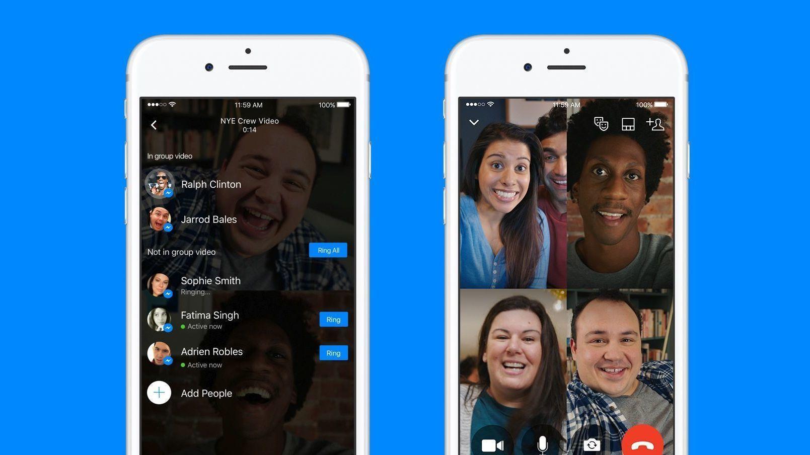 Messenger lar deg nå ha videosamtaler med flere personer samtidig