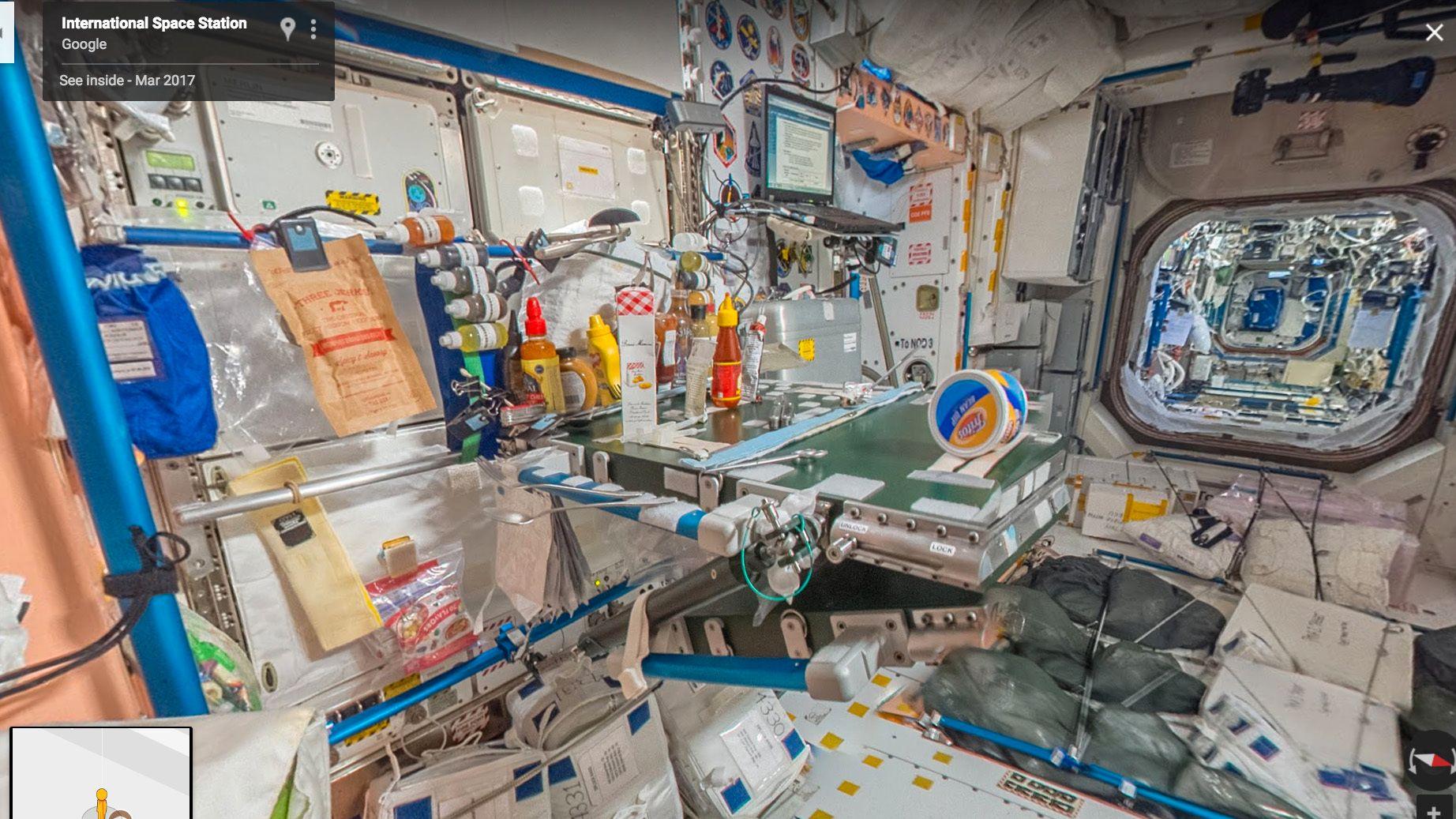 Besøk romstasjonen i Street View