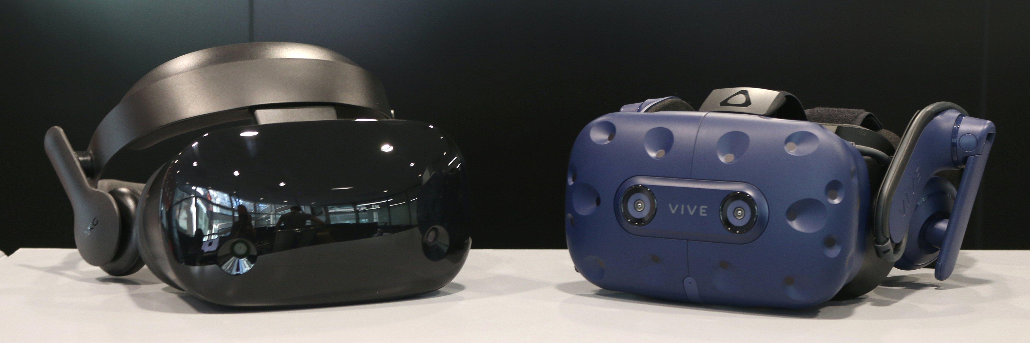Samsung HDM Odyssey og HTC Vive Pro.