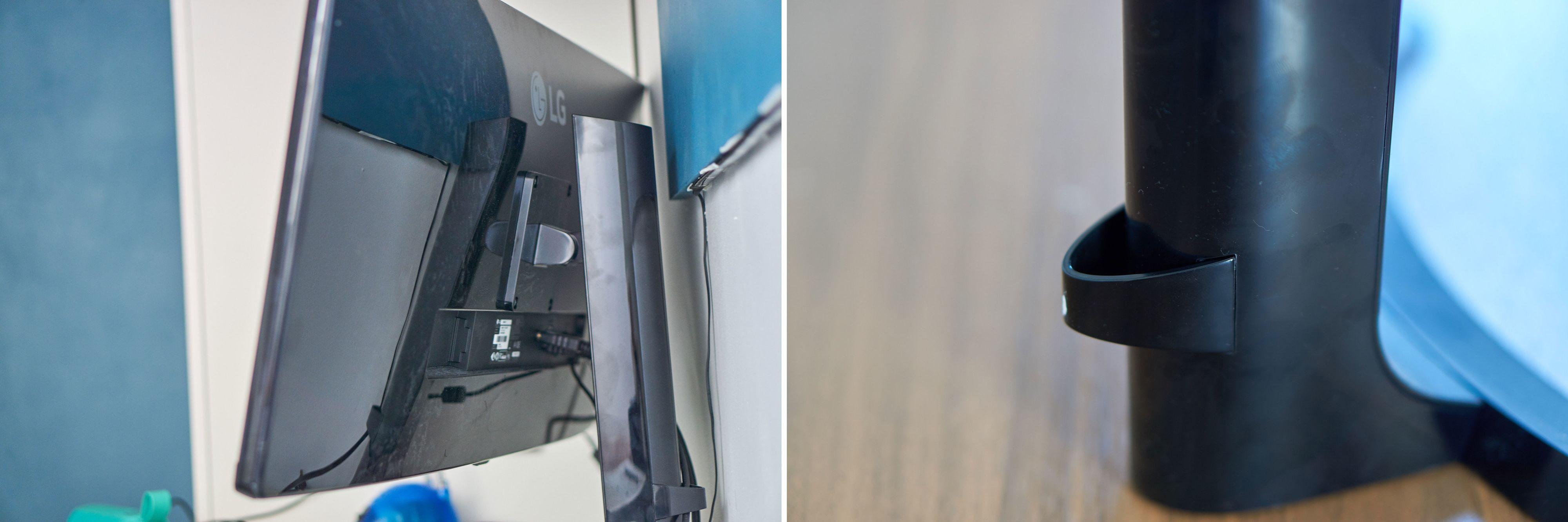 Cable management: med denne lille plastbiten kan du organisere kablene på en litt penere måte.