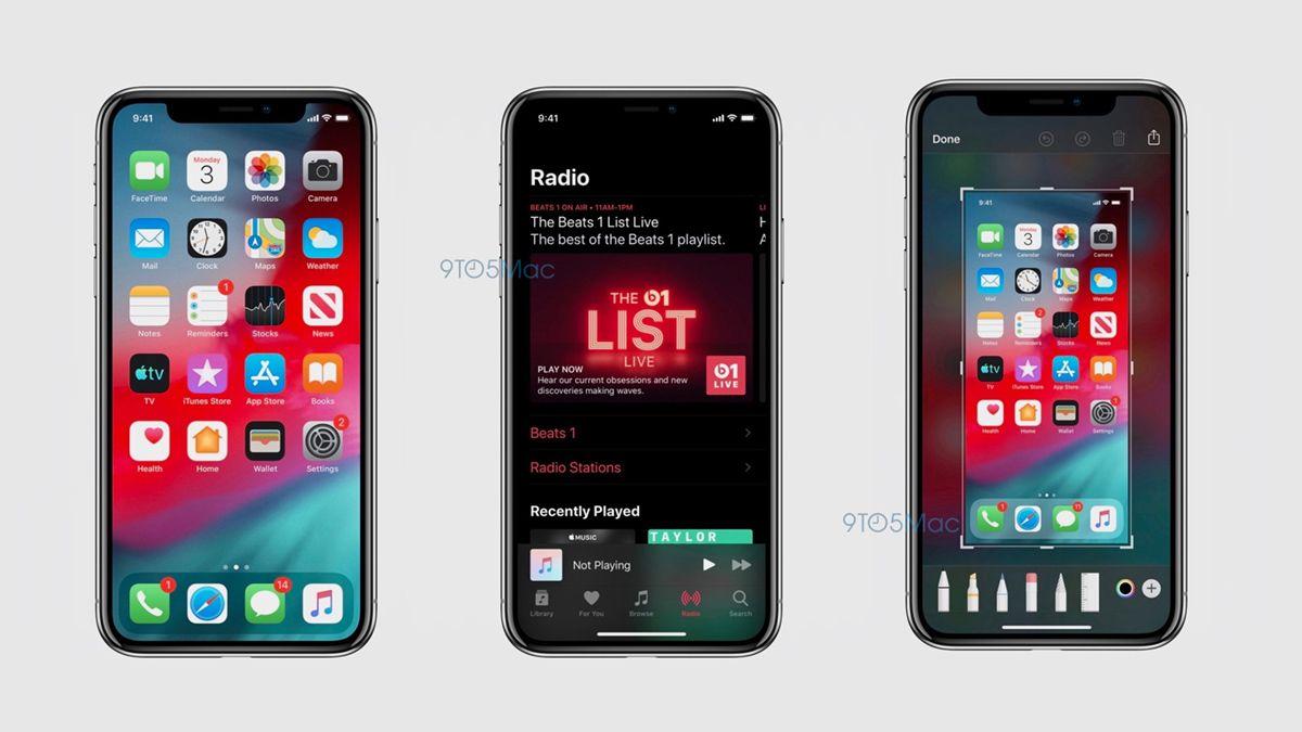 Lekkede bilder viser iOS 13 med nattmodus