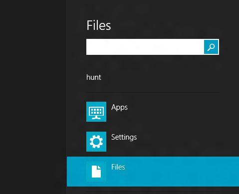 Trykk Windowstast + F for å opp søkevinduet.