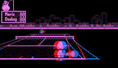 Slik ser Mario Tennis ut på Virtual Boy. Foto: Nintendo