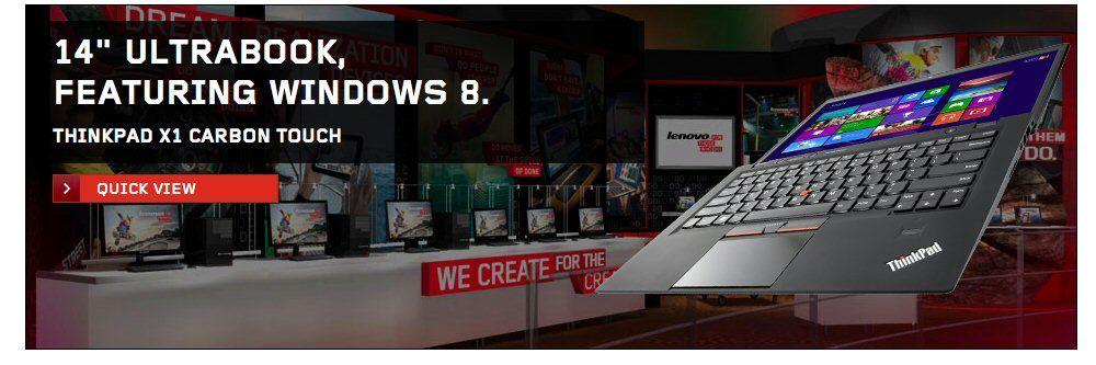 Nå kommer ThinkPad X1 Carbon med berøring