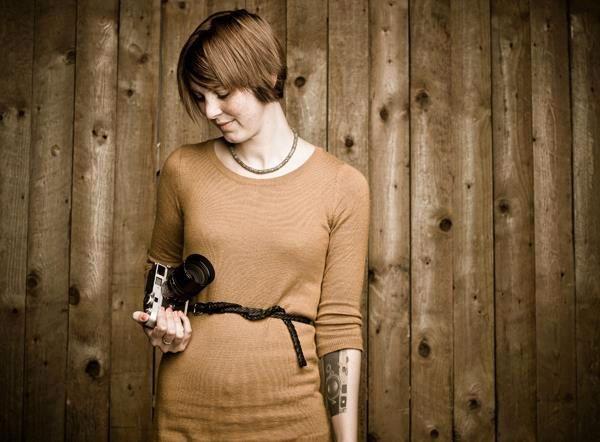 Cecilie Engebretsen fotografert av Leicas fotograf på Photokina 2012.Foto: Murat Aslan
