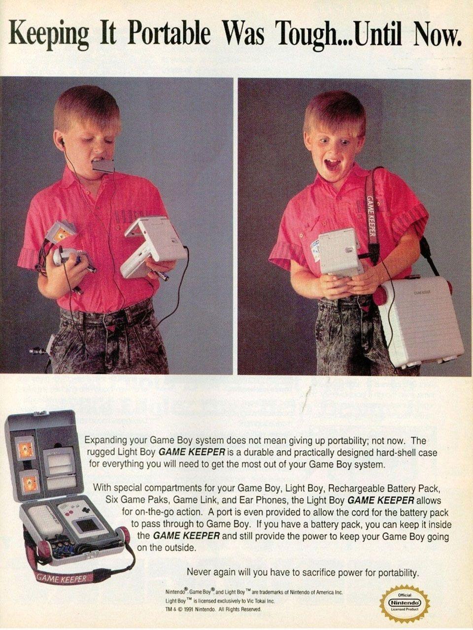 Reklamen er jo artig, men produktet er enda bedre. Ikke gå hjemmefra uten en teit plastkoffert. Takk og lov for mobilspill. Foto: Nintendo