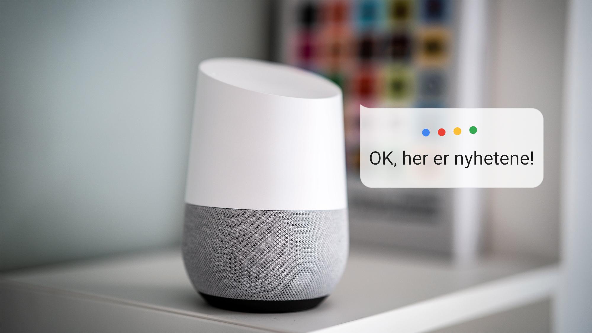 Nyheter på Google Home