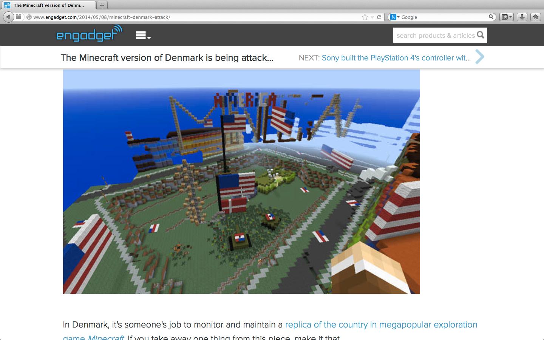 Noen har funnet det for godt å dekorere et område med amerikanske flagg.Foto: Faksimile fra Engadget