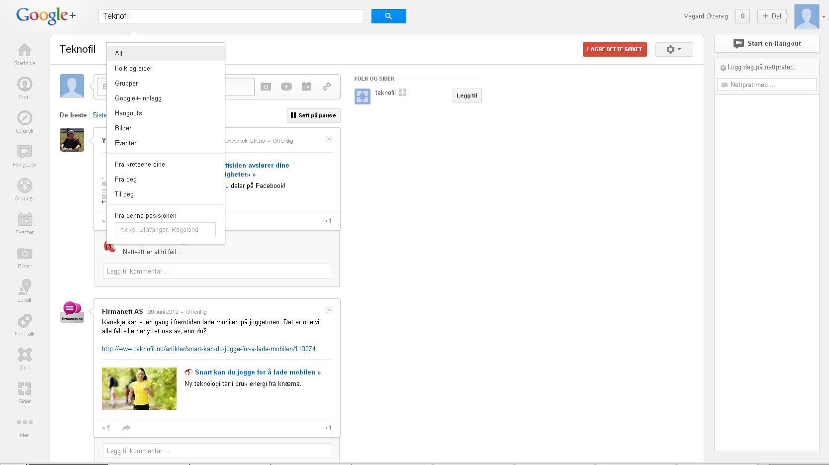 Ved å søke kan du filtrere etter mange kategorier, og lagre søkestrengen.Foto: Google