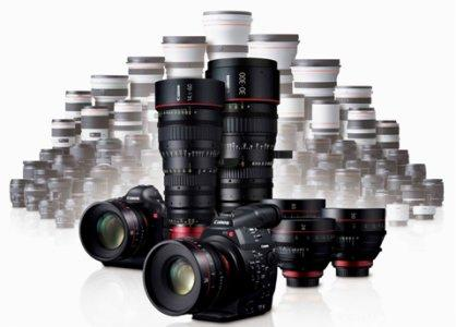 Canons nye Cinema EOS system med C300 i front.