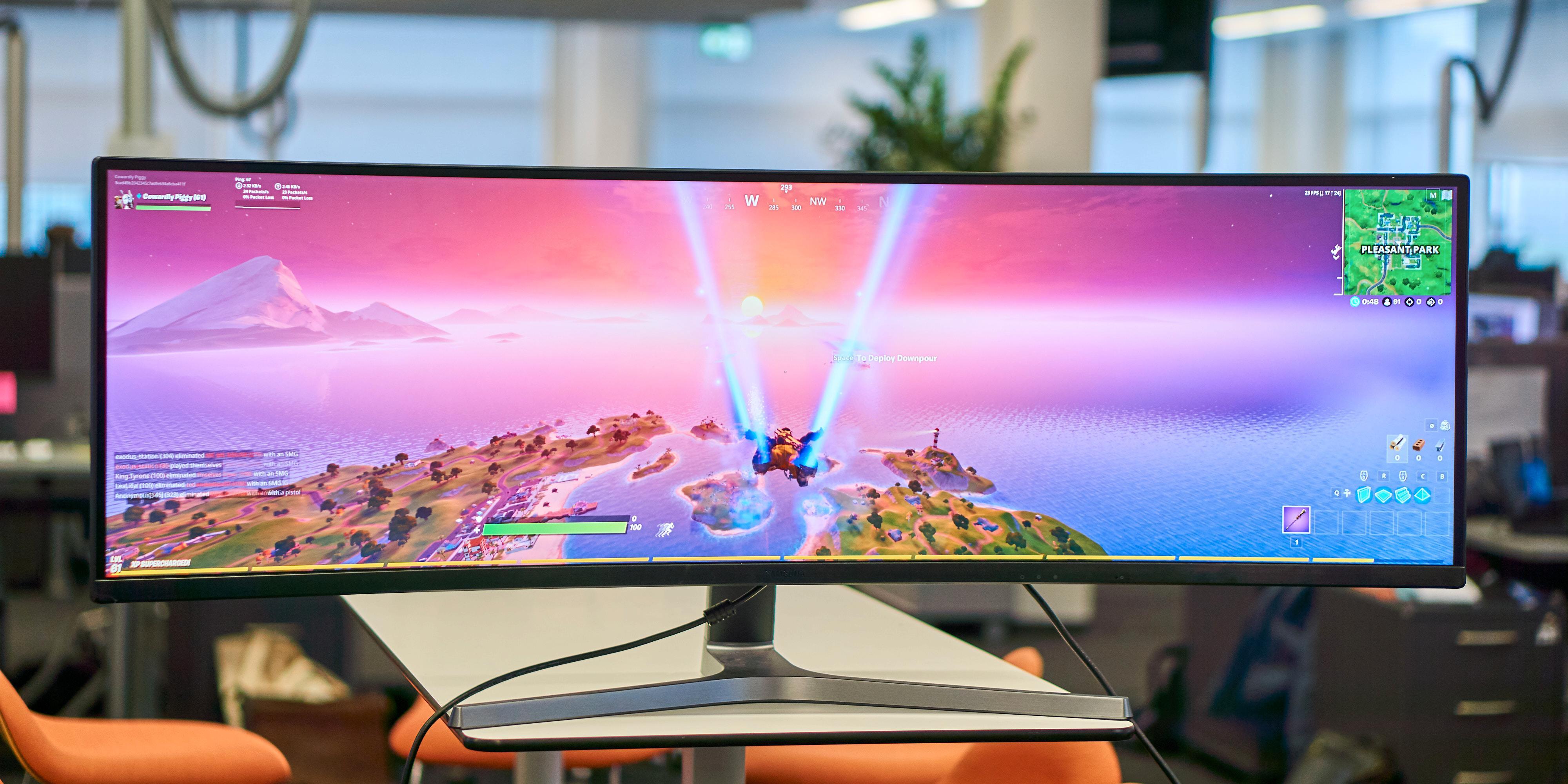 Ultrabrede skjermer er et imponerende syn på pulten.