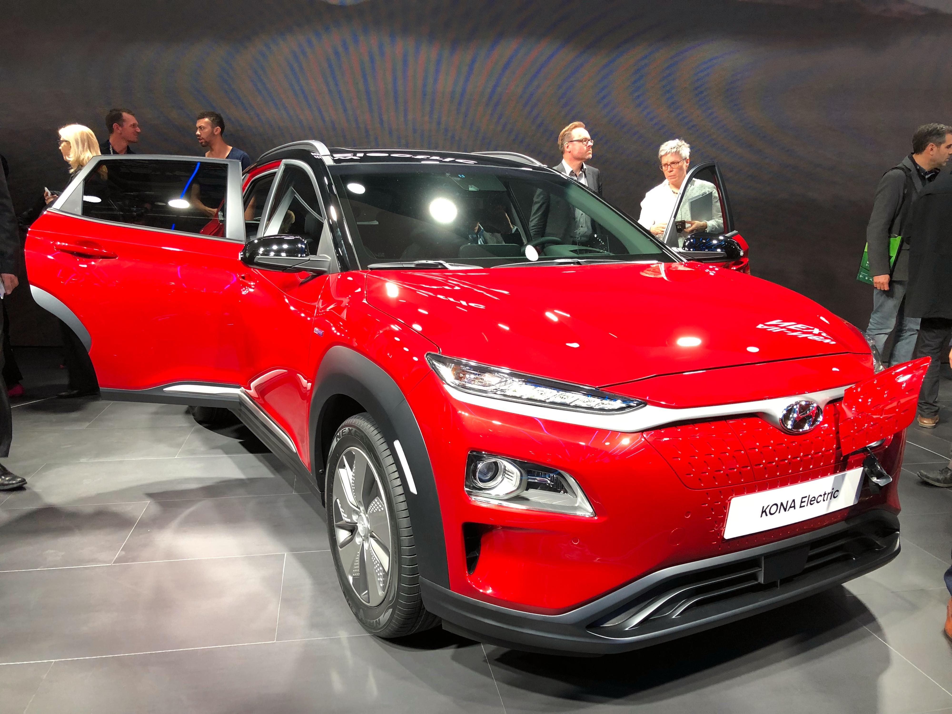 Hyundai Kona Electric på bilmessen i Geneve tidligere i år