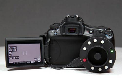 Okii følgefokus tilkoblet et Canon 60D.