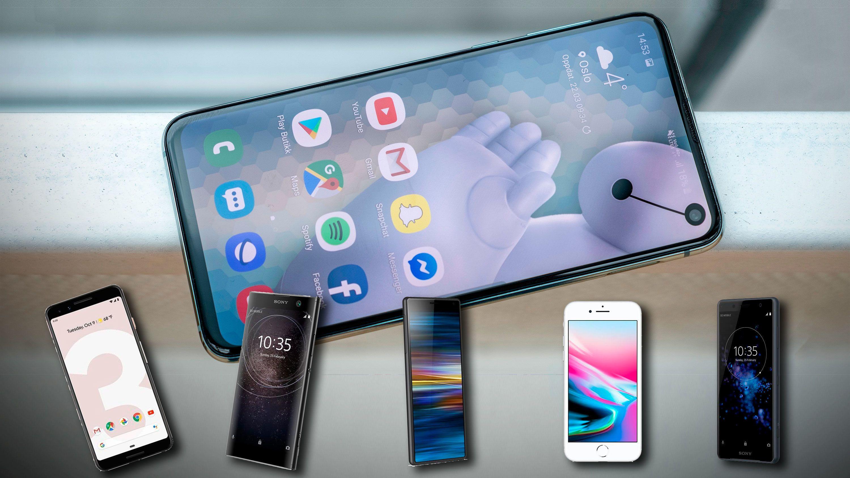 Fysiske knapper og fysiske ting på din Iphone smartmobil