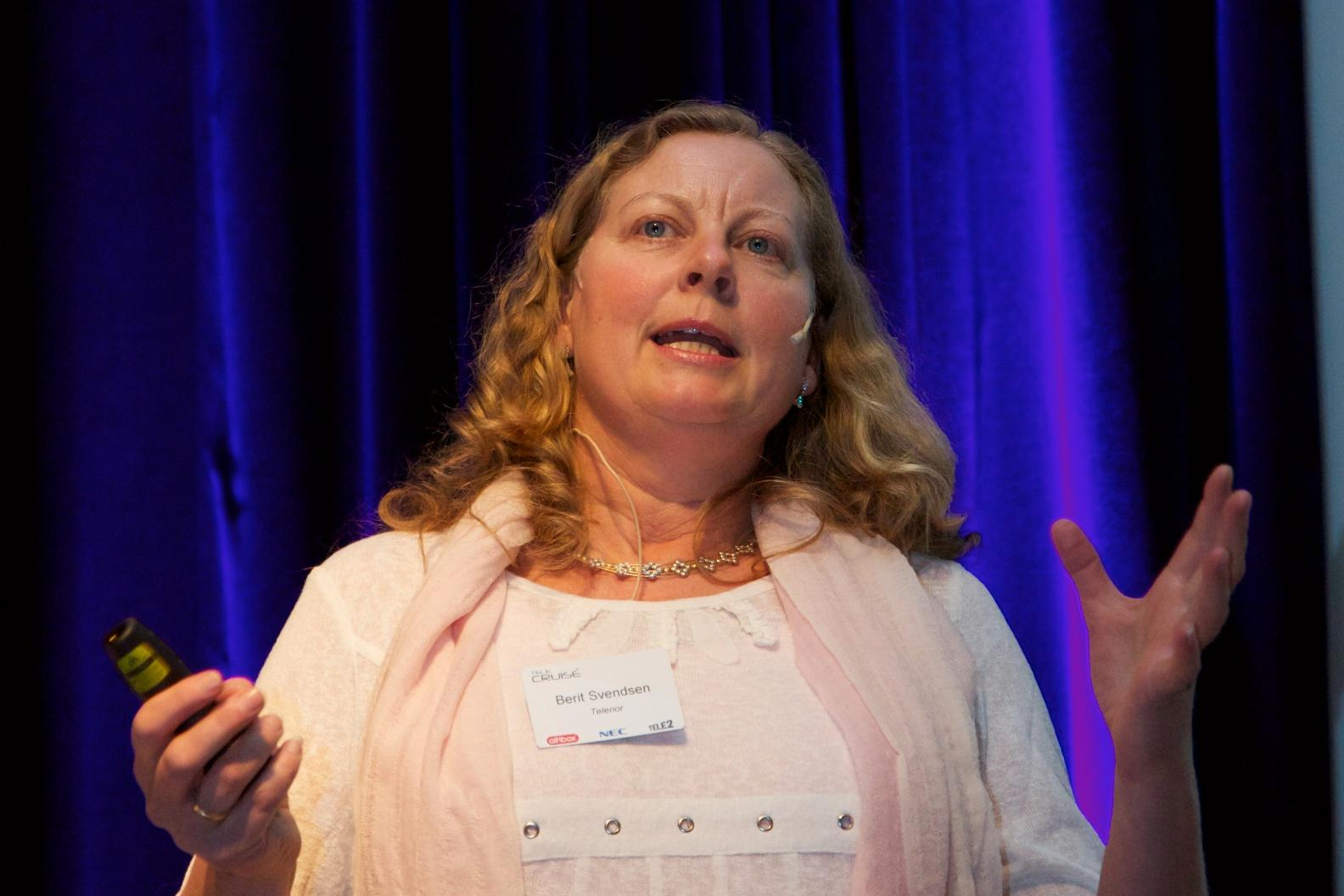 Berit Svendsen i Telenor.Foto: Kurt Lekanger, Mobilen.no