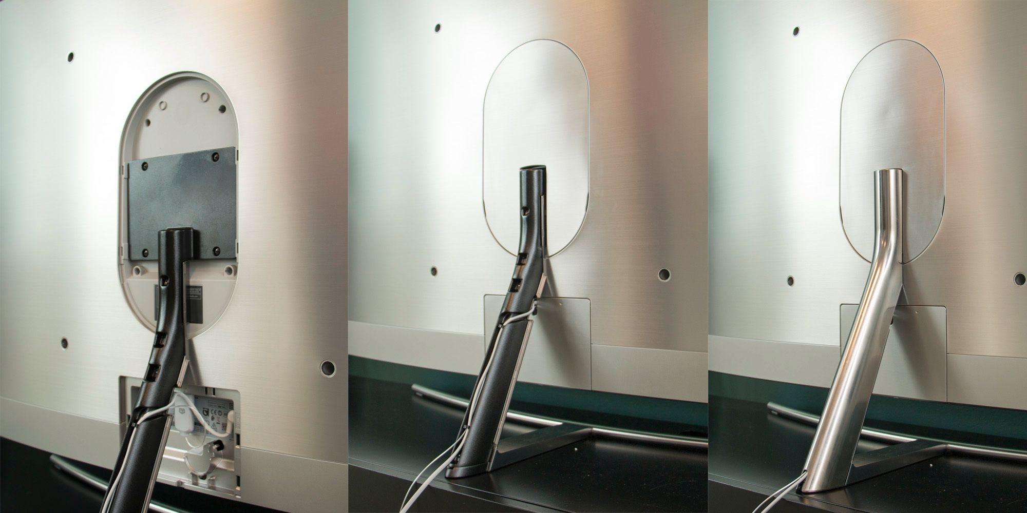Ved hjelp av en oppfinnsom fot, et par deksler, en strømledning og en optisk kabel kan du få et strøkent resultat hvor kablene skjules inne i foten.