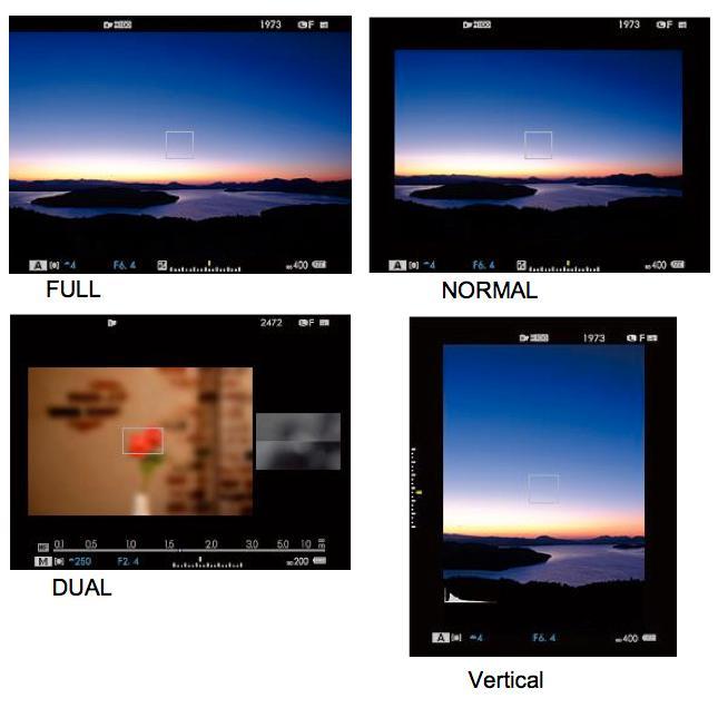 X-T1s fire søker-modi. (Foto: Fujifilm)