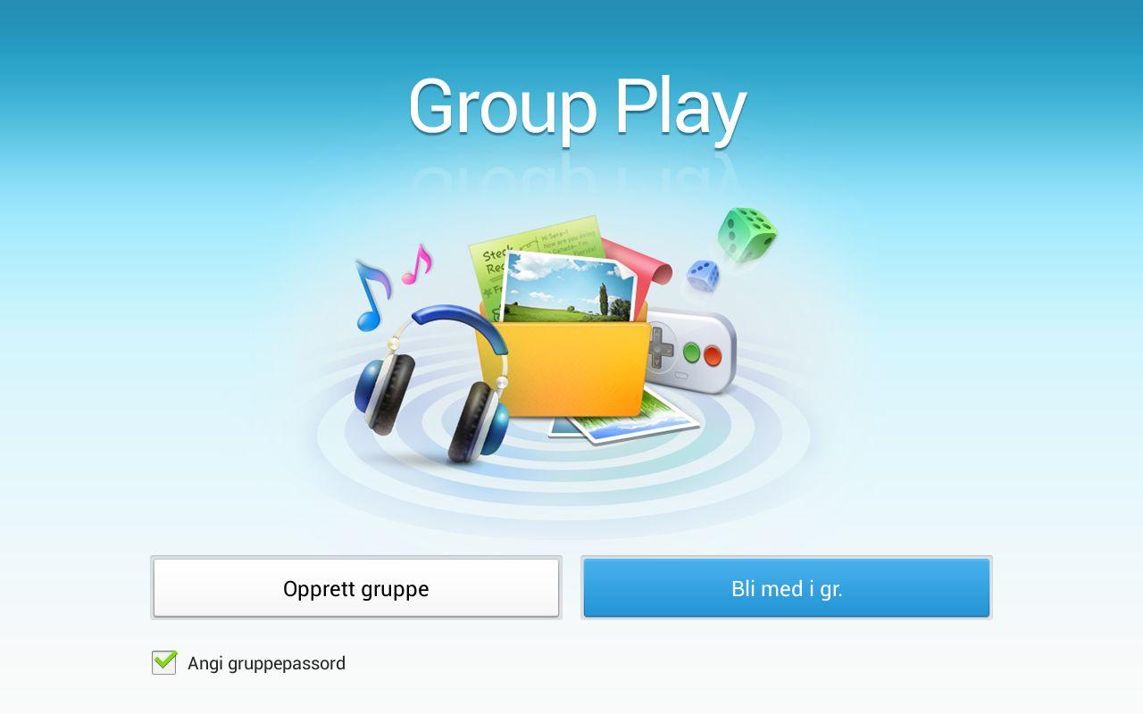 Du kan spille med andre som har et nytt Samsung-brett eller Galaxy smartmobil.