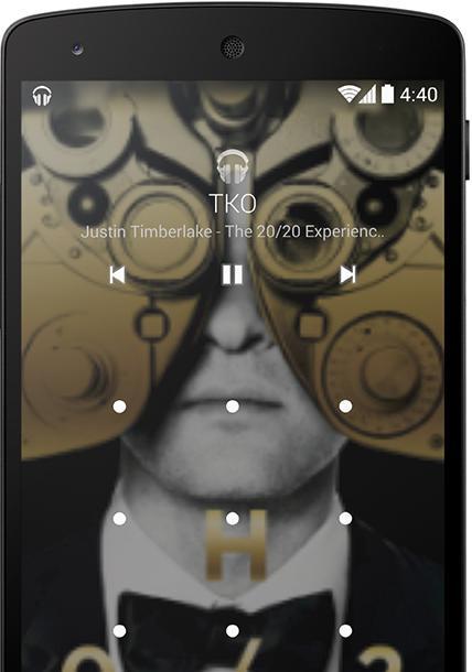 Låseskjermen kan nå vise albumgrafikk, eller grafikk som tilhører serier eller filmer som vises via Chromestick.Foto: Google