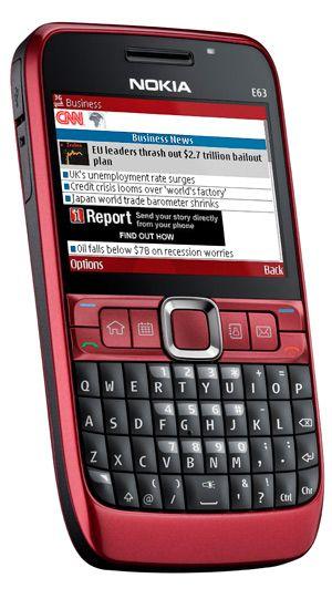 Formfaktoren er som på Nokia E71.