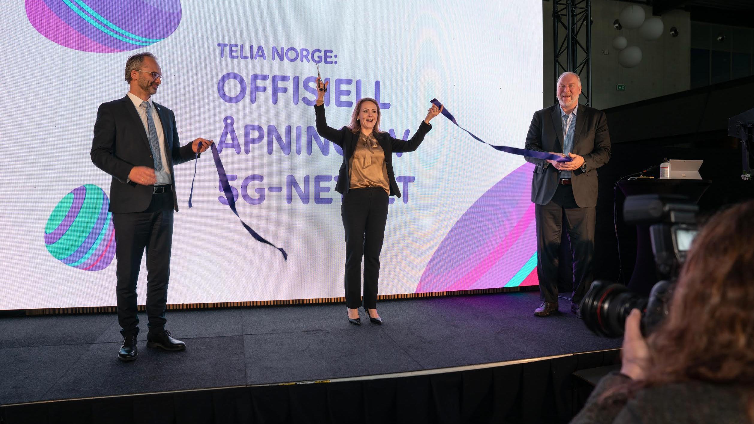 Telia åpner 5G-nettet sitt