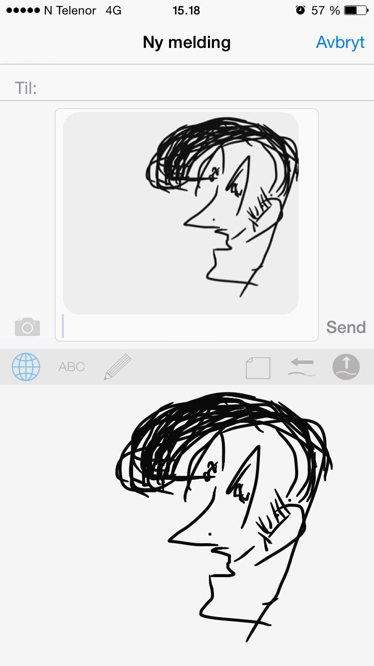 Nei, dette var ikke et forsøk på å tegne Elvis ... (DrawType).Foto: skjermbilde