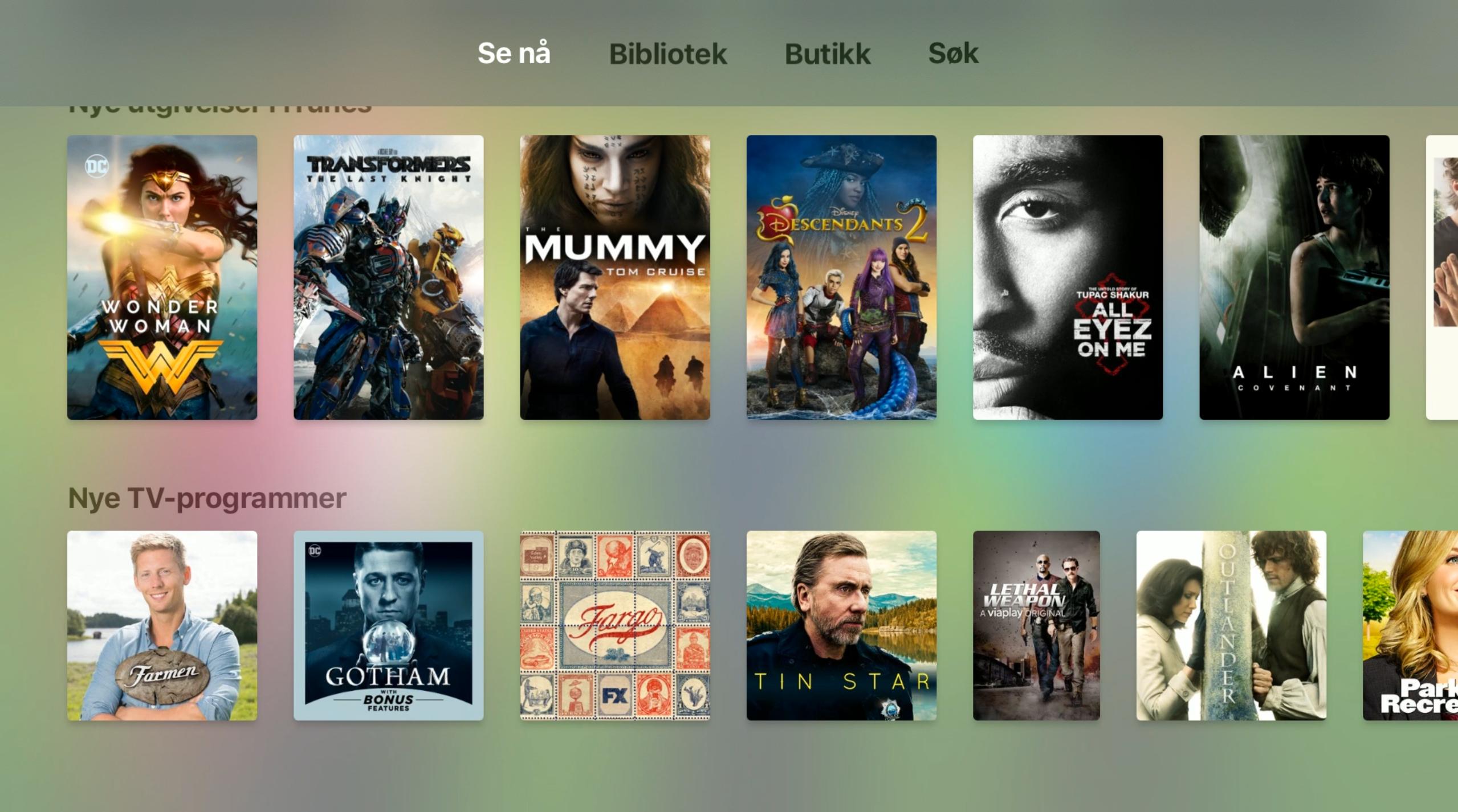 TV-appen til Apple er ryddig og enkel å forstå seg på.