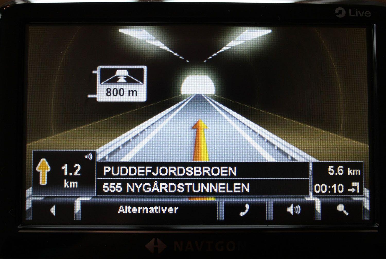 Slik vises tunneler under navigasjon.